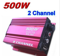 Wholesale Mini Digital Audio Power Amplifier Auto Car Motorcycle Boat Home Hi Fi Stereo MP3 AMP Red
