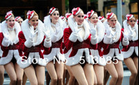 Cheap sexy Christmas 2013 outerwear lead dancer clothing costume performance wear, warm jacket dance cloth