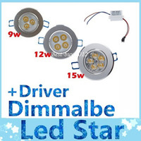 Wholesale AC V V W W W Dimmalbe led recessed ceiling lights warm pure cool white Angle led downlights lamp include driver