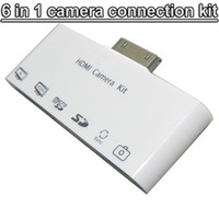 Yes apple ipad camera connection kit - 6 in HDMI Dock Adapter TV AV USB Cable Camera Connection Kit adapter For Apple iphone s iPad