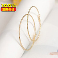 beading hoop earrings - filled round beading hoop earring ear wire circle earwire