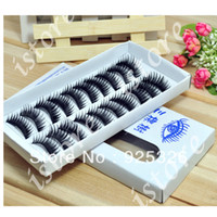 Wholesale new Fashion Pair Thick Long False Eyelashes fake Eyelash extension Eye Lashes Voluminous Makeup