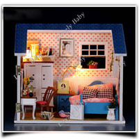 Wholesale Bedroom DIY Wood Dollhouse Large Dream Villa Room house doll toys all Furniture including