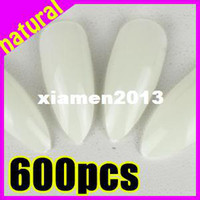 Wholesale New Arrivals salon DIY natural acrylic nail tips full cover false stiletto nails fake nail