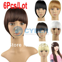 Wholesale Hot Sale Women Straight Clip on Front Neat Bang In Fringe Hair Piece Extension Colors B_154