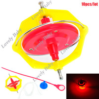 Wholesale 10pcs Baby Kid s Development toy Spin Spinning Top Light Music Toys