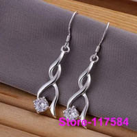 Cheap Wholesale - E182 925 sterling silver 2013 fashion jewelry earrings for women Twisted physiognomy stone earrings fiea nzla