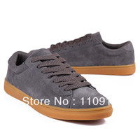 Wholesale shoes for men Spring and autumn fashion lacing suede commercial skateboarding shoes fashion trend of single shoes