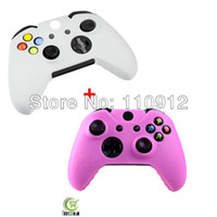 Cheap Free shipping,2pcs lot ,1pcs Pink+ 1pcs White Protective Silicone Gel Skin Case Cover for Microsoft XBOX ONE Controller New