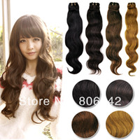 Wholesale Women Brazilian Remy Human Hair Extensions Curly Body wave hair colors Sizes