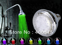 Wholesale High Quality degree Adjustable Modern Color Change LED Light Bathroom Shower Head Faucet