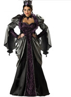 Wholesale sexy Vampire Cinderella Stepmother Evil Queen Halloween Cosplay Costumes Carnival Outfit For Adult Women With Accessory