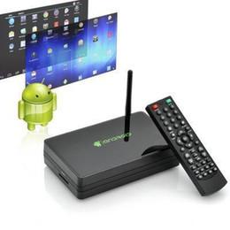 Wholesale Network HDMI media player google Android TV BOX USB Support Adobe Flash HTML5 black