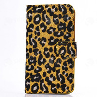 For Apple iPhone TPU For Christmas Flip Cover High Quality Sexy Leopard print Series Cover with Card Pouch stand holder case Shockproof For iPhone 4 4S 5 5S iPhone4 iPhone5