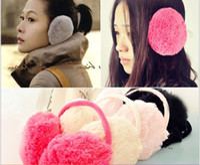 Wholesale Winter Warmer Ear Muffs Fashion Candy Color Plush Earmuffs Backphones Earcap Cheap Ear Covers