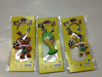 Wholesale 2014 World Cup hang buckle Strap Mascot D pendant Fuleco souvenir keychain World Cup logo Set of