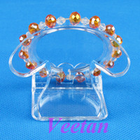 Wholesale Clear View Plastic Bracelet Bangle Display Stand Holder