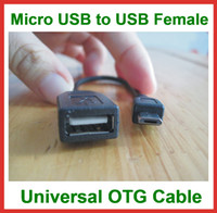 Wholesale 1000pcs Universal OTG Cable Micro USB B Male to USB Female for Tablet PC Mobile Phone