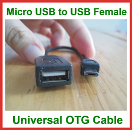 2017 otg tablet pc 1000pcs Câble universel USB 2.0 B de câble d'OTG à la femelle d'USB pour le PC de téléphone portable de PC de tablette MP3 Mini câble d'USB OTG abordable otg tablet pc