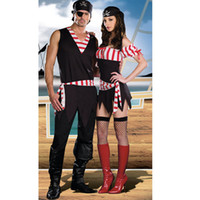 Wholesale Couple pirate pirate clothes dress female models male models uniforms temptation Pirates of the Caribbean costumes
