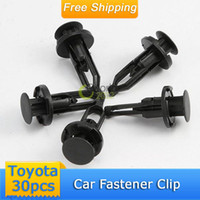 Best Free Shipping 30pcs Nylon Plastic Car Auto Fastener Bumper Clip Rivet Push Retainer Screw Fender FOR TOYOTA