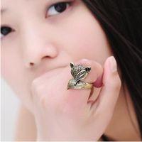 Band Rings beautiful foxes - Korean Stylish Personality Enchanting Beautiful Little Fox Ring Rings