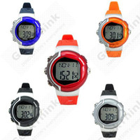 Cheap Healthy 6 in 1 Sporty Watch with Heart Pulse Rate Monitor Calorie Counter ,High Quality , 009