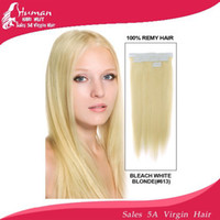 Wholesale Indian Remy PU Tip Tape Skin Weft Hair Extensions quot quot quot Inches Bleach Blonde g Or g TOP QUALITY