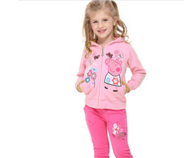 Wholesale 2014 spring autumn children girls peppa pig clothes children hoodies outwear lovely coats and jacket for kids top quality