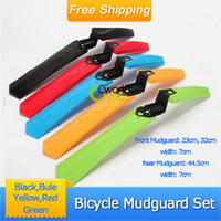Wholesale car New Road Mountain Folding Bicycle Front amp Rear Mudguard Set Fenders Cycling Mud Guards Set
