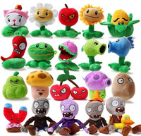 Unisex 3-4 Years Video Games Wholesale - Kids Creative small Stuffed Toys Plants vs zombies game Baby small Plush Doll Children's Plush toys 10-20CM 20pcs lot TS266