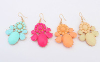 Wholesale Spring New Arrival Trend all match Lady Personality Bohemian style colorful earring Western Style Jewelry