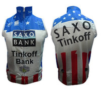 Unisex bank uniforms - 2013 SAXO BANK bule white cycling windbreaker vest windproof quick dry Breathable bike uniform accept customize Men and Women