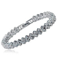 Wholesale 925 sterling silver bracelet Rome Korean fashion wild female models crystal jewelry