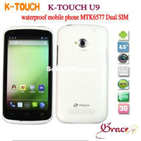 "Best in stock k-touch U9 dustproof waterproof mobile phone MTK6577 Android 4.1 Jelly Bean 4.5"" IPS 3g smart mobile"