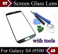 Wholesale high quality Brand New Front Screen glass lens For samsung Galaxy S4 i9500 Replacement Parts SHA D