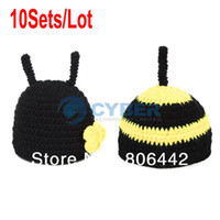 Boy Summer Crochet Hats 10Sets Lot 2014 New Black Baby Hats Costume Photo Photography Prop Knit Crochet Beanie Hat Animal Cap Sets 18008
