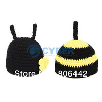 Boy Summer Crochet Hats 2014 New Black Baby Hats Costume Photo Photography Prop Knit Crochet Beanie Hat Animal Cap Sets 18008