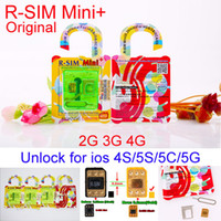 Wholesale Newest R SIM Mini RSIM Mini Extreme mm Thin Film Unlock Card for iphone S C S iOS7 iOS AU Sprint Verizon T MOBILE