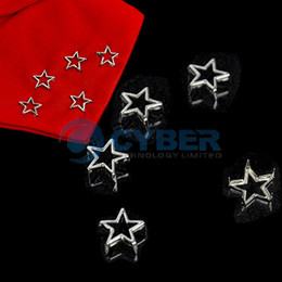 Wholesale New mm DIY Pentagram Rivets Studs Clothing Bag Accessories Punk Bag Belt Leathercraft Silver