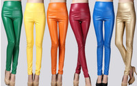Cheap 100pc Fashion Women' Faux Leather Look High Waist Leggings Pants Tights #J75