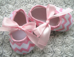 Wholesale Spring Baby Girls Wave Pattern Ribbon Bow Tie Colorful Shoes Newborn Baby Shoes Toddler Raised Grain Antiskid Shoes B2665