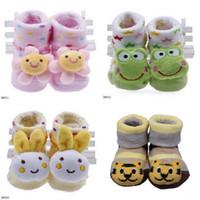 Wholesale New Warm Socks Shoes Cute Lovely Newborn Baby Infant Unisex Jacquard Weave Indoor Anti slip Animal Cartoon Shape Boots DDN