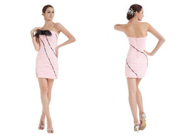 Wholesale Sexy clothing tight strapless the dress cocktail reception party dress chic design new patterns DL132000605