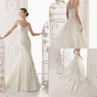 Wholesale Elegant Bridal One Shoulder Beading Gown Detachable Court Train Chinese Lace Mermaid Wedding Dress DL1304110