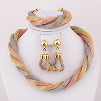 Celtic african jewelry set - dubai African Gold Plated Mysterious Charming Fashion Romantic Bridal Fashion Necklace jewelry set