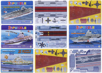 Wholesale 3D Puzzles Jigsaw Children Educational Toys Aircraft Carrier For Gift Award CKD