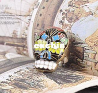 Wholesale lt div class quot en_title quot gt Alloy Colorful Enamel Peking Opera Mask Skull Bead Finger Ring