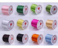 Wholesale Rollsx10M Mixed MM Strong Crystal Beading Stretch Elastic Cord Wire String DIY Jewelry Craft Bracelet Making