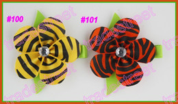 free shipping 80pcs pretty petal flower clip new loopy flower clips mix color baby hair bow cream